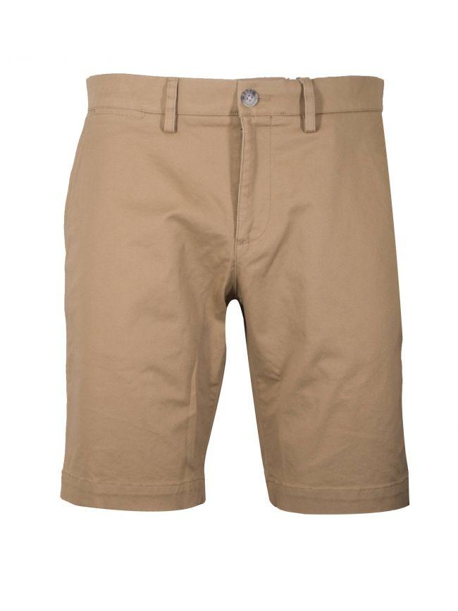 Slim Fit Beige Chino Shorts
