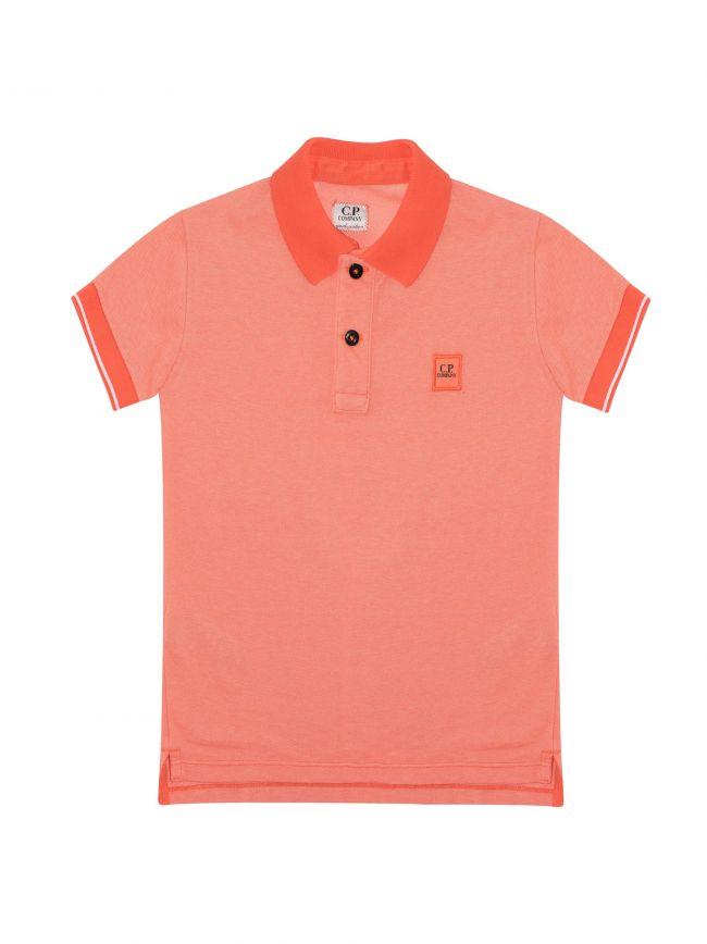 Orange Contrast Polo Shirt