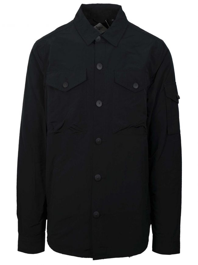 Askern Black Polyester Over Shirt
