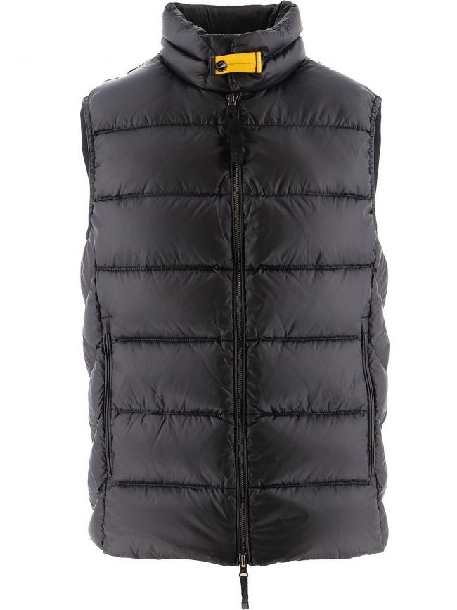 Black Jeordie Down Vest