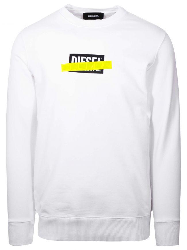 White Logo Cross-out Sweatshirt