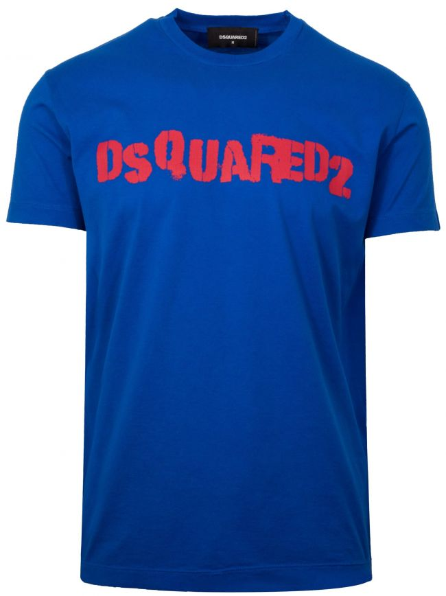 Royal Blue Printed Logo T-Shirt