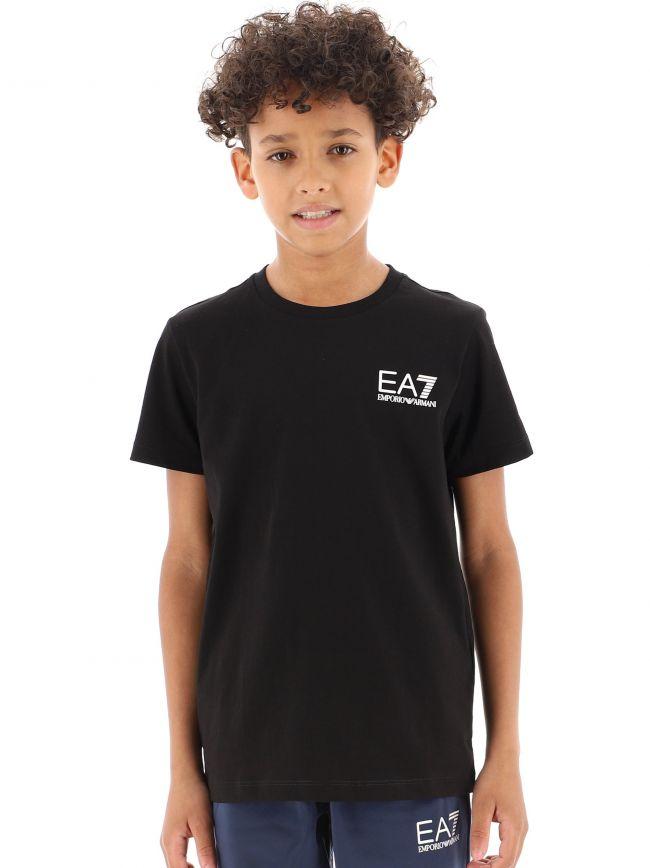 EA7 Kids Black Logo T-Shirt