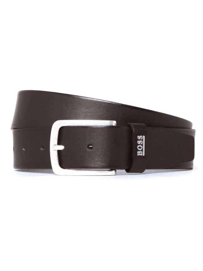 Brown Jor Logo Leather Belt