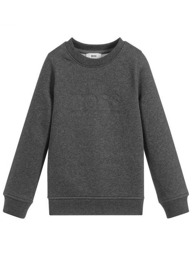 Dark Grey Logo Crew Neck Sweatshirt