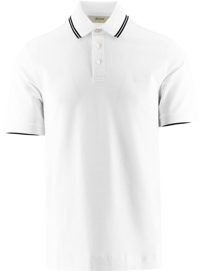 White Short Sleeve Polo Shirt