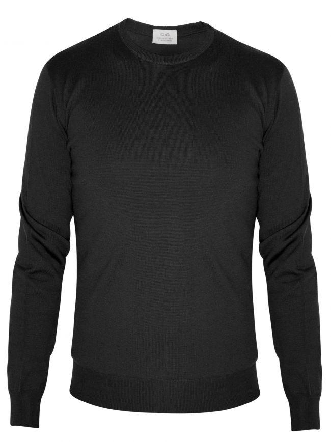 Black Knitted Wool Jumper