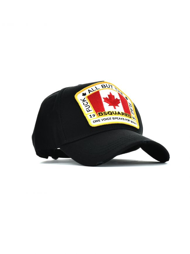 Black Patch Embroidered Cap
