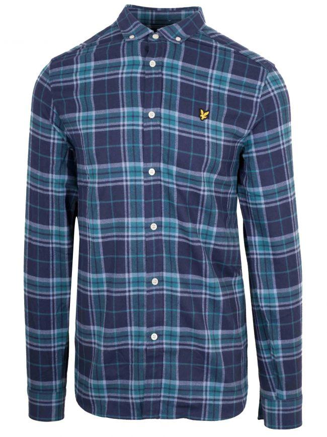 Navy Check Shirt