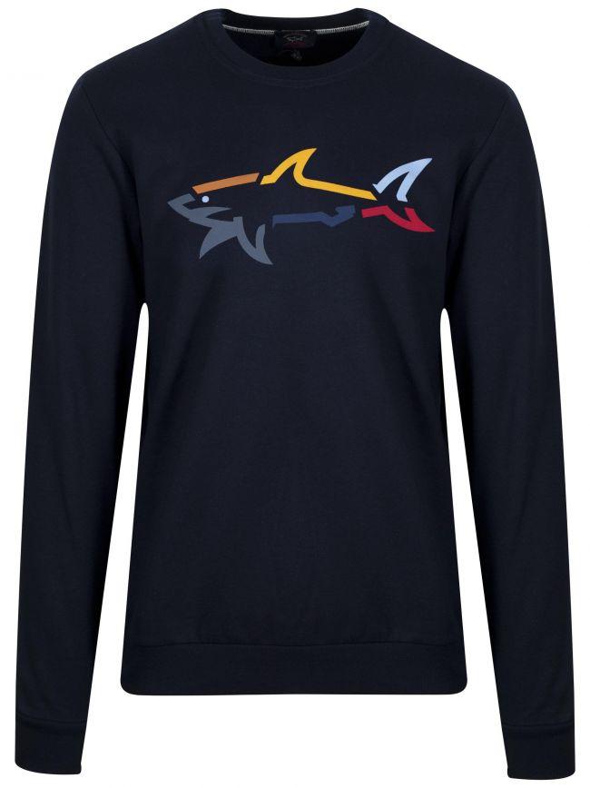 Navy Shark Logo Sweatshirt