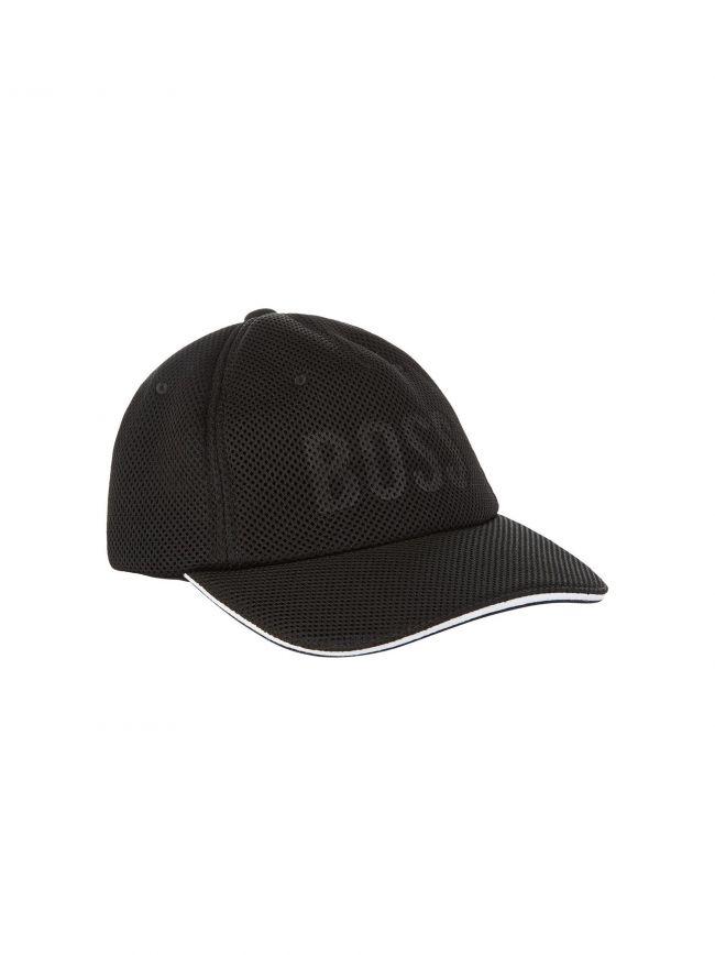Black Mesh Logo Cap
