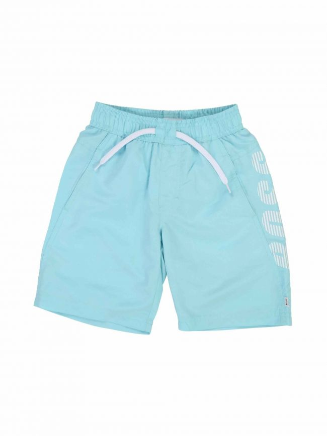 Aqua Blue Logo Swim Shorts