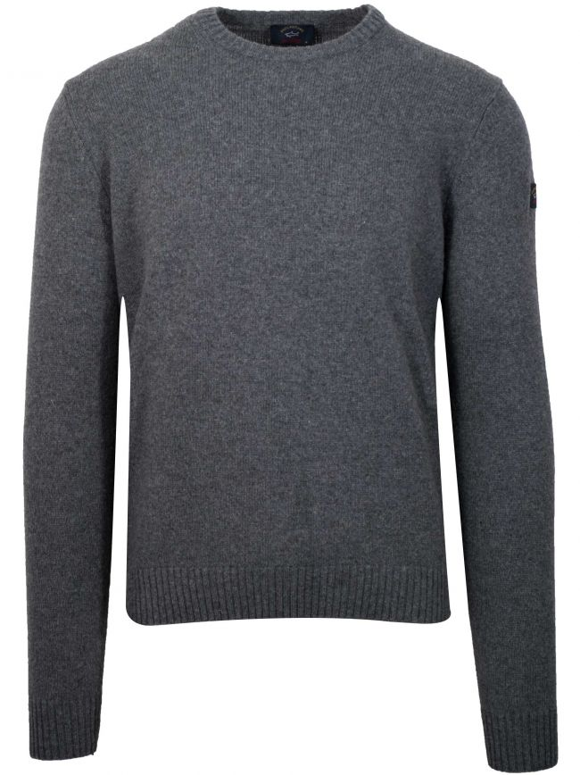 Colours Of Shetland Grey Knitwear Wool Jumper