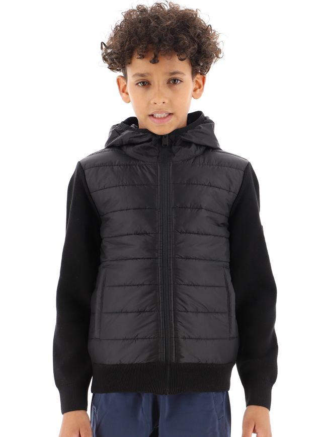 Black Zip Through Albie Jacket