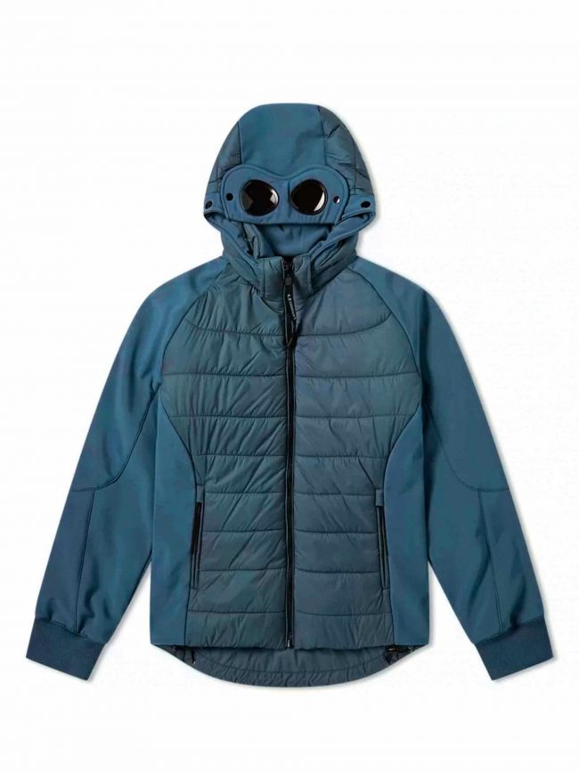 Blue Quilted Goggle Soft Shell Jacket