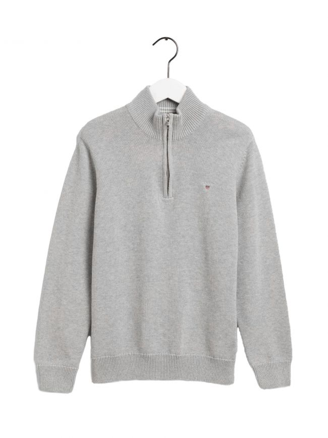 GANT Kids Light Grey Half Zip Sweatshirt