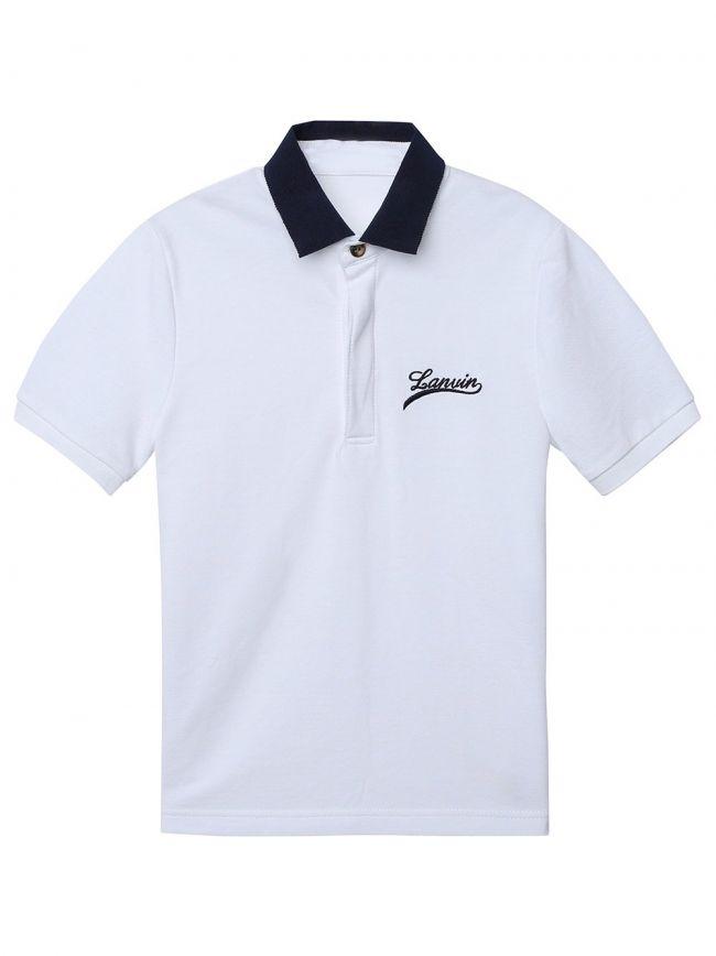 Lanvin Kids White Polo Shirt