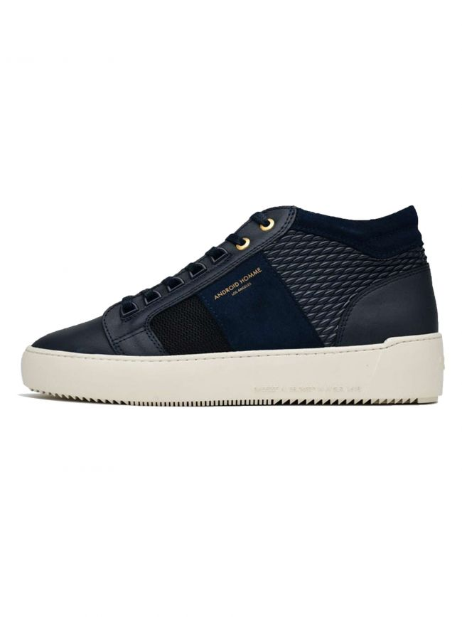 Navy Stretch Propulsion Mid Sneaker