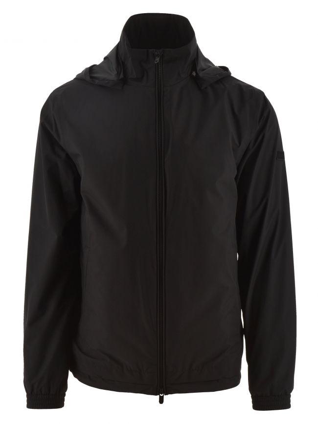 Black Microfiber Blouson Jacket