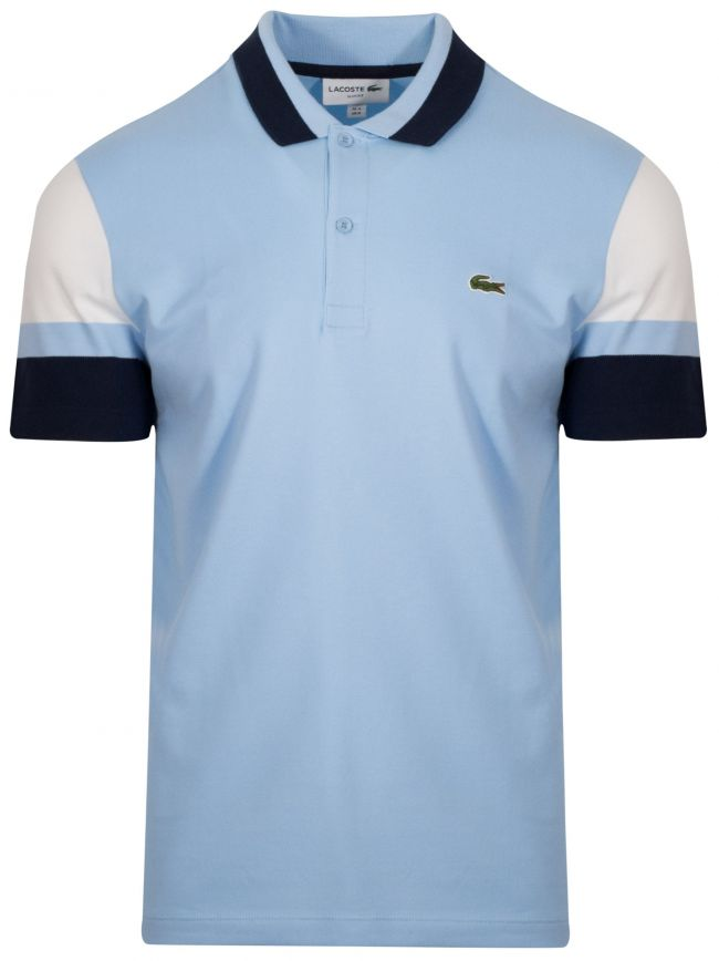 Blue Block Colour Polo Shirt