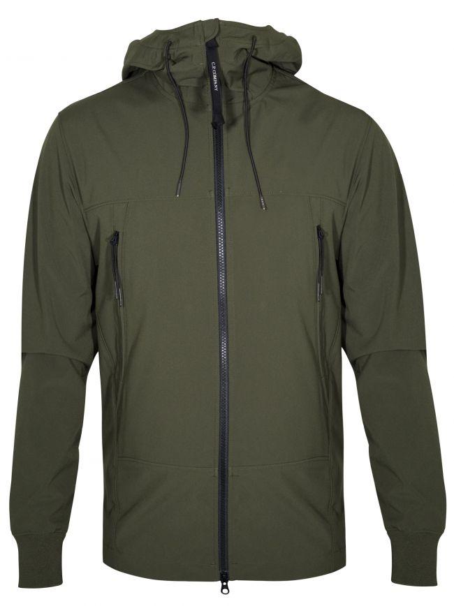 Khaki Green Soft Shell Goggle Jacket