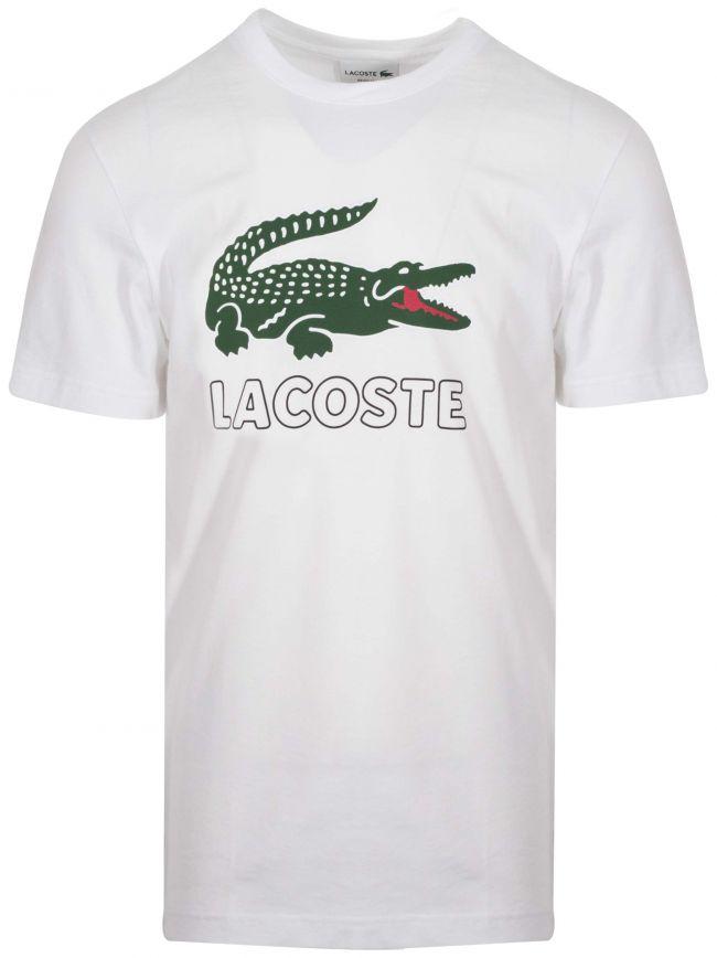 White Printed Logo Crew Neck T-Shirt
