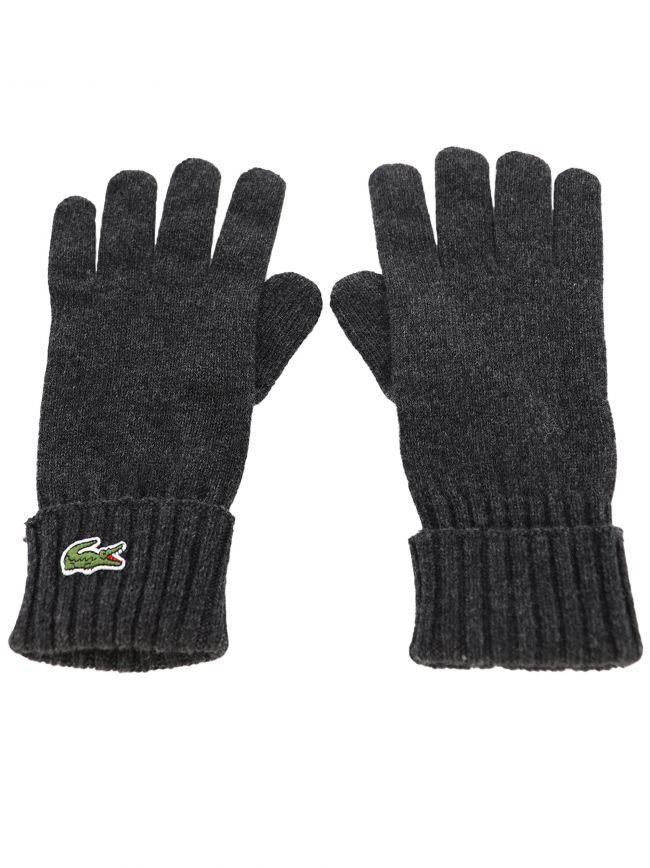 Grey Lacoste Wool Gloves