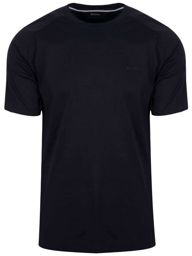 Navy Plain Crew Neck T-Shirt