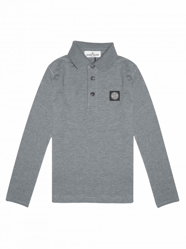 Mid-Grey Jersey Cotton Polo Shirt