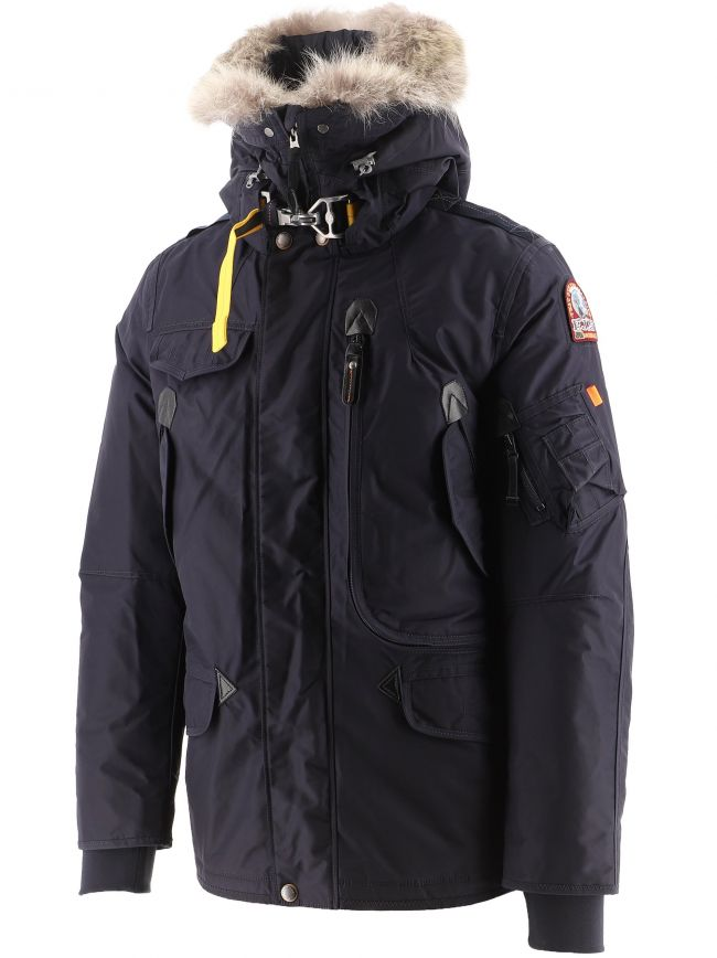 Navy Right Hand Hooded Down Jacket