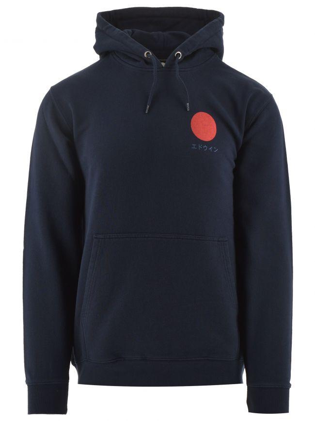 Navy Japanese Sun Hooded Sweatshirt