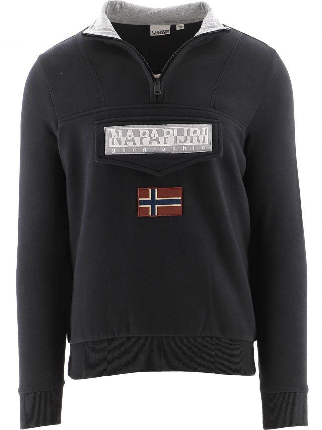 Black Half-Zip Burgee Sweatshirt