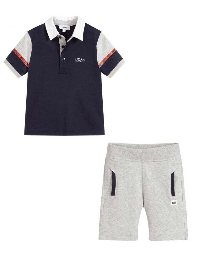 Navy Blue T-Shirt & Short Set