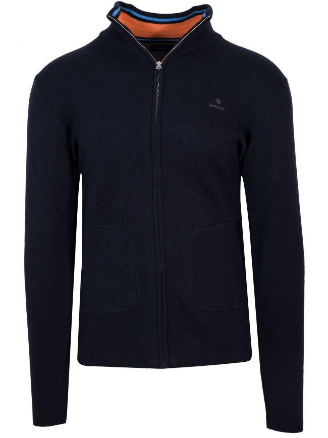 Zip Navy Sweatshirt