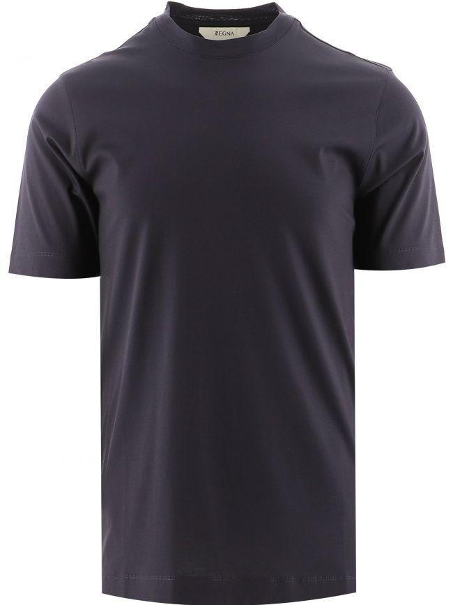 Navy Short Sleeve Plain T-Shirt