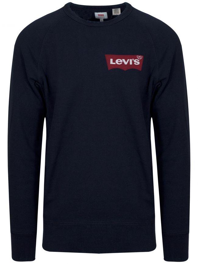 Navy Batwing Logo Sweatshirt