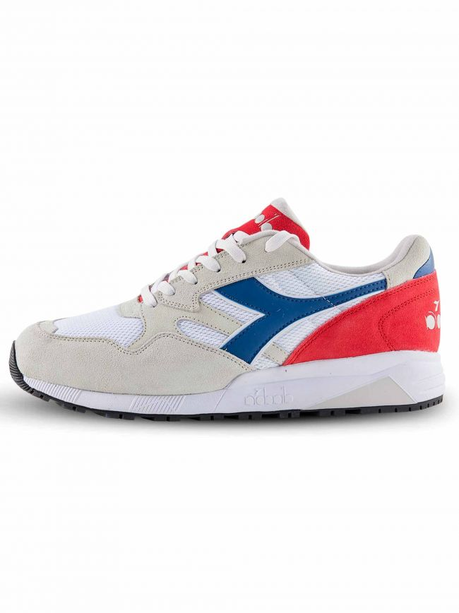 White, Navy & Red N902 Sneaker