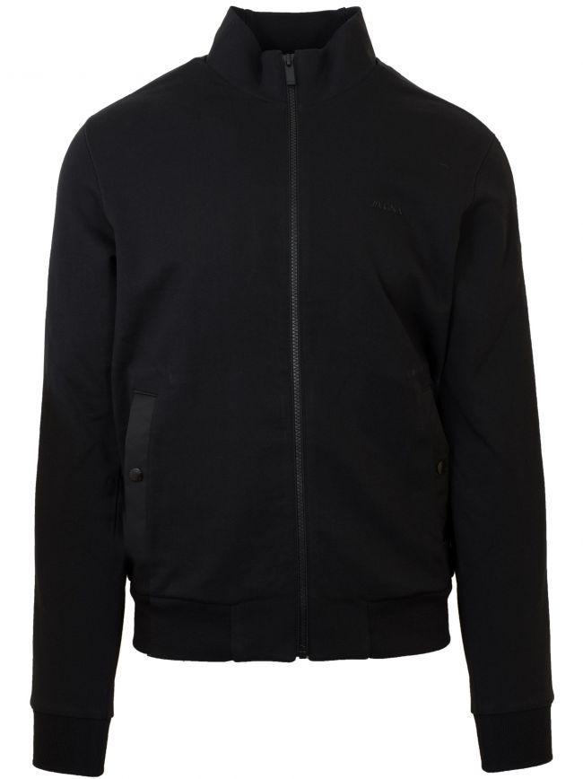 Black Zip Bomber Jacket