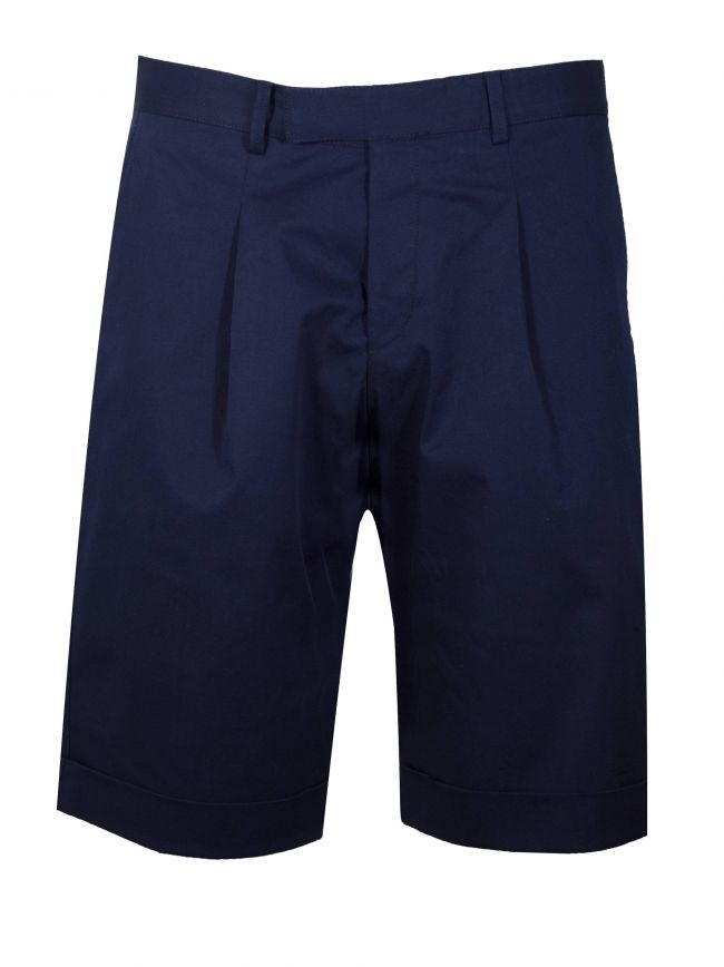 Marine Blue Cotton Short