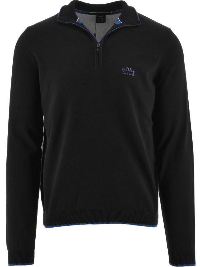 Black Ziston Quarter Zip Sweater