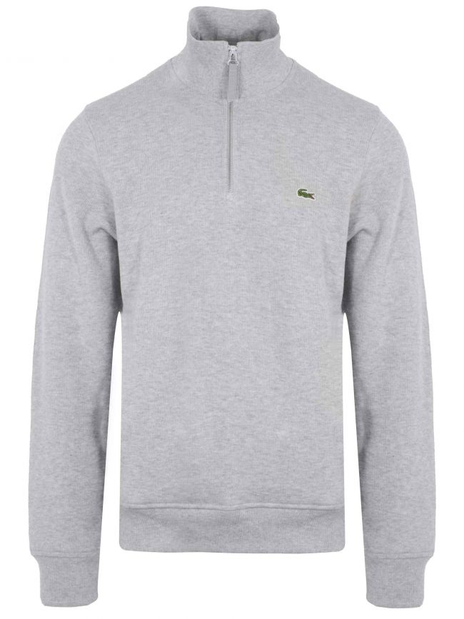 Grey Logo Half Zip Sweatshirt