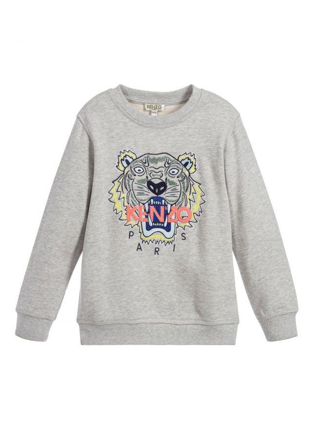 Grey Marl Tiger Sweatshirt