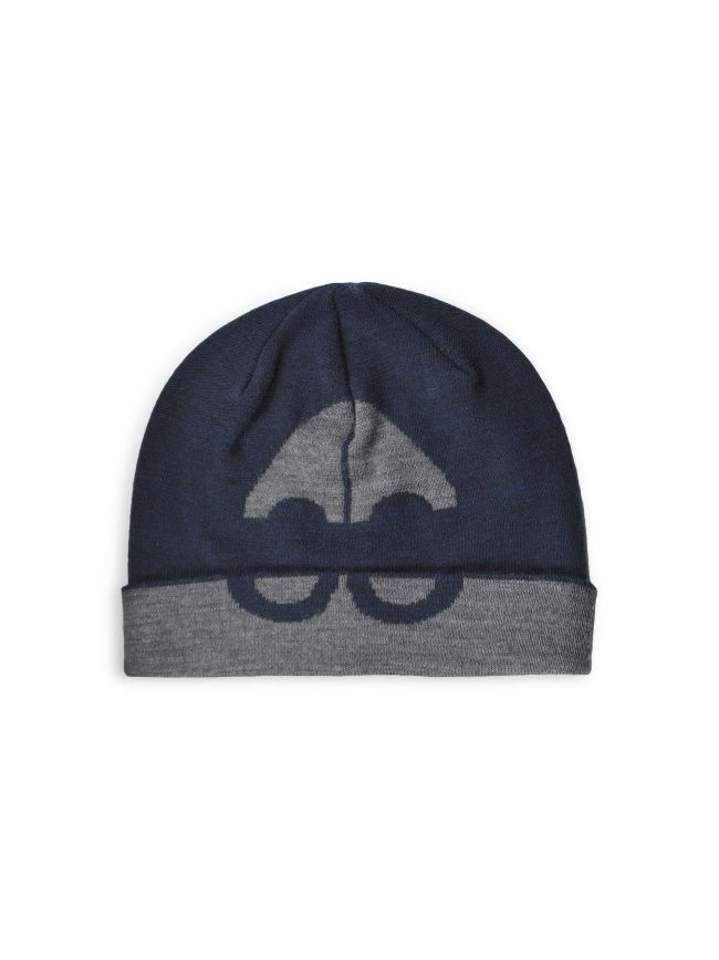 Navy & Charcoal Moose Logo Beanie