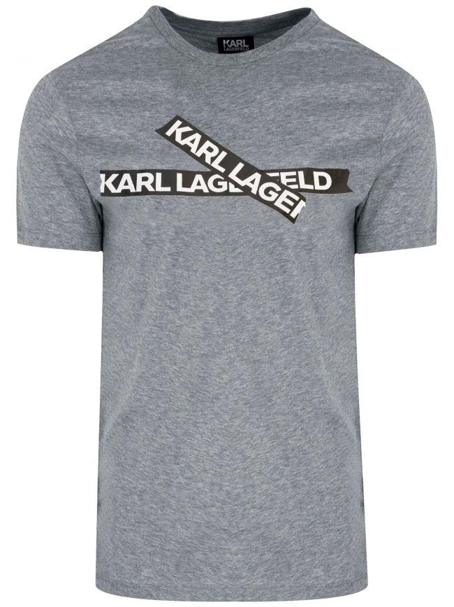 Grey Cross Logo T-Shirt