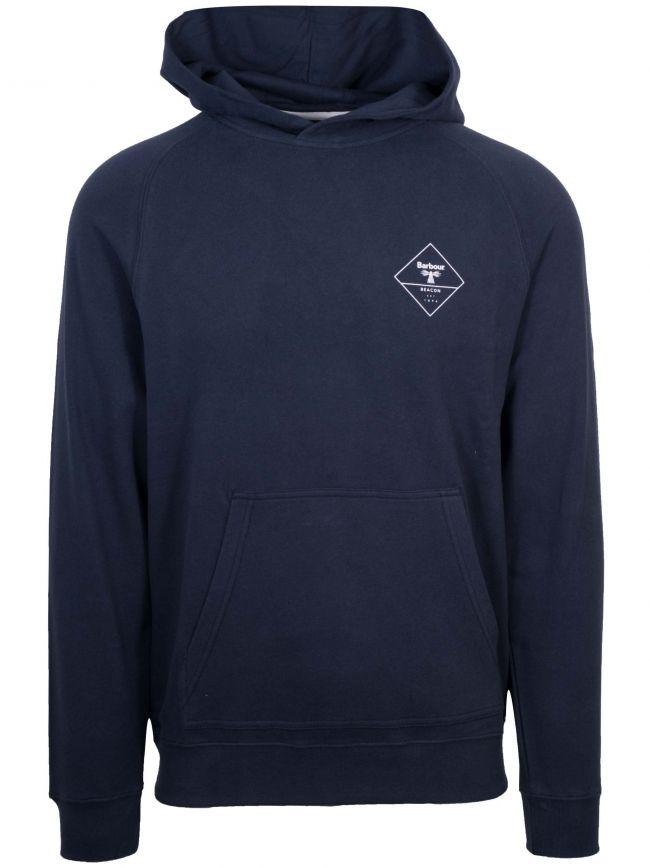 Navy Blue Logo Hooded Sweatshirt