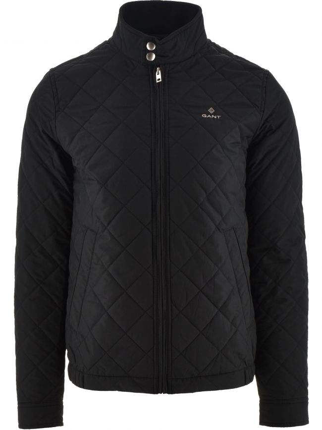 Black Quilted Windcheater Jacket