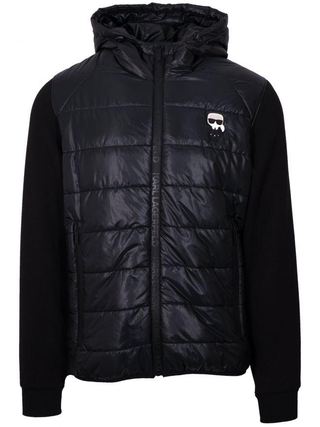 Black Padded Hybrid Jacket