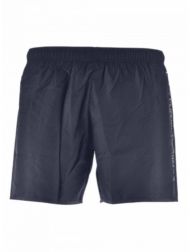 Navy & Silver Logo Swim Short