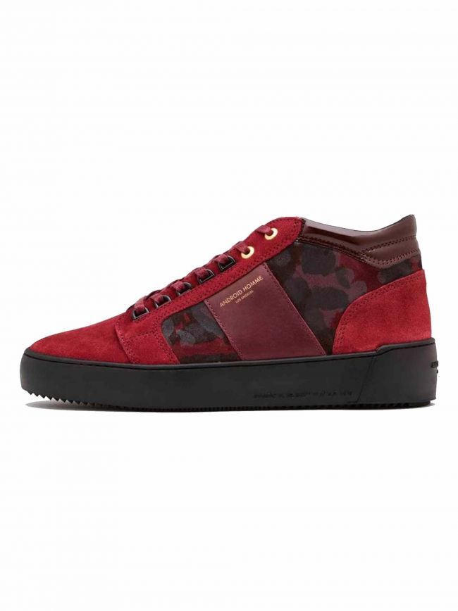 Red Camouflage Suede Propulsion Mid Sneaker