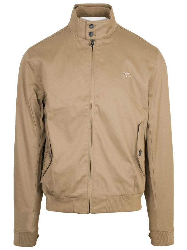Viennese Beige Cotton Harrington Jacket